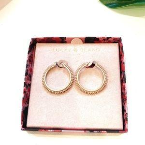 Lucky Brand Rose Gold Balinese Loop Hoops NIB